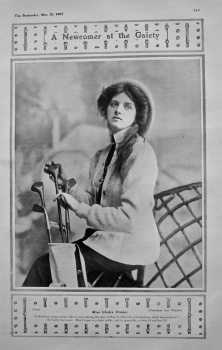 A Newcomer at the Gaiety : Miss Glady's Cooper. 1907.