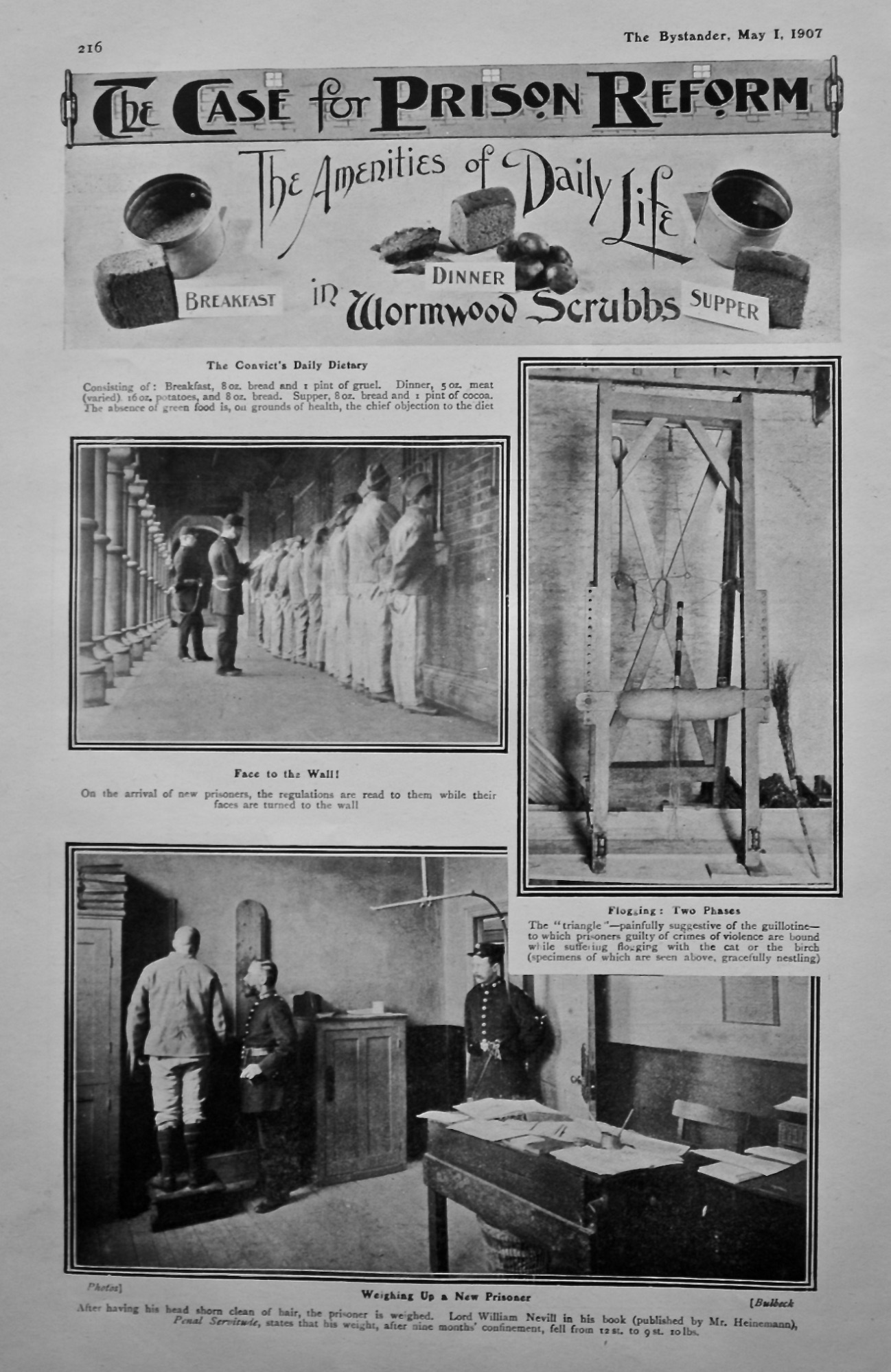The Case for Prison Reform : The Amenities of Daily Life in Wormwood  Scrubbs  1907