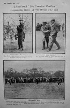 Letterhead' for London Golfers : Professional Match at the Surrey Golf Club. 1907.
