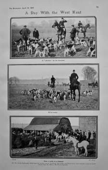 A Day With the West Kent Foxhounds. 1907.