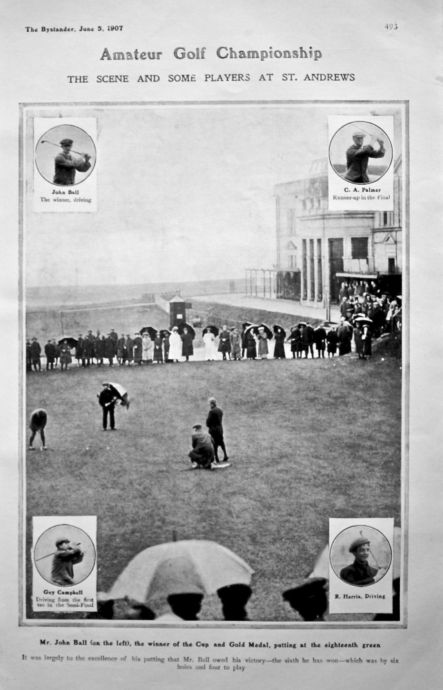 Amateur Golf Championship : The Scene and Some Players at St. Andrew. 1907.