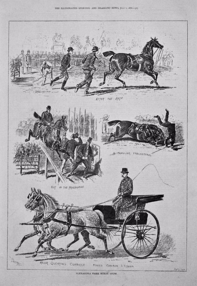 Alexandra Park Horse Show. 1876.