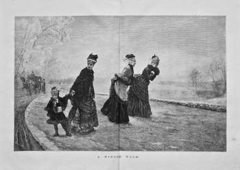 A Winter Walk. 1875.