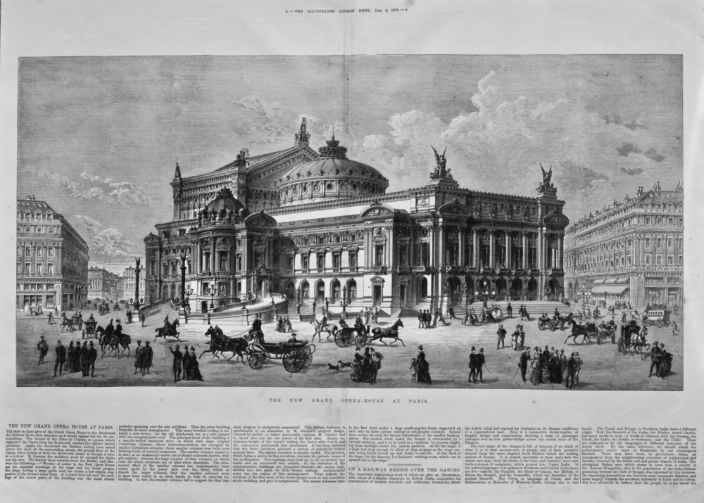 New Grand Opera-House at Paris. 1875.