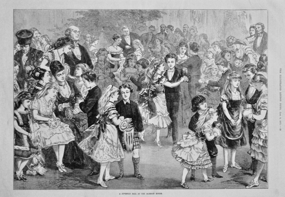 A Juvenile Ball at the Mansion House. 1875.