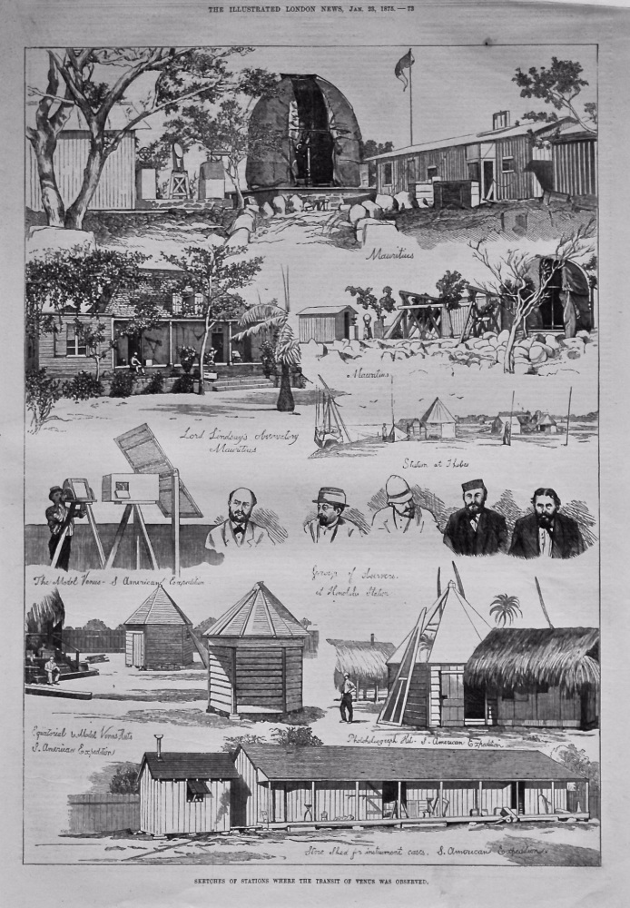 Sketches of Stations where the Transit of Venus was Observed. 1875.