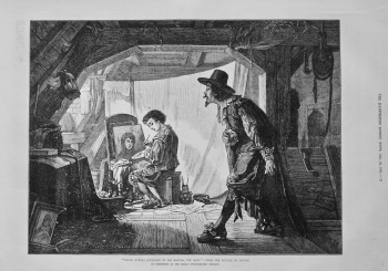 """""""Young Rubens Surprised by His Master, Van Oort."""" - From the Picture by Steven. 1875."""