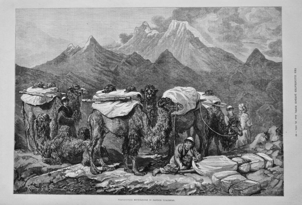 Transporting Merchandise in Eastern Turkestan. 1875.