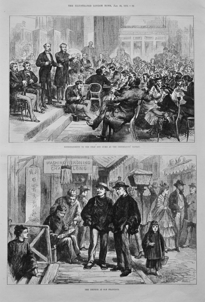 Entertainment to the Deaf and Dumb at the Freemasons' Tavern. 1875.