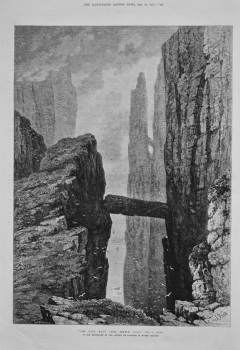 """The Grey Man's Path, Antrim Coast."" -By S. Read. 1875."