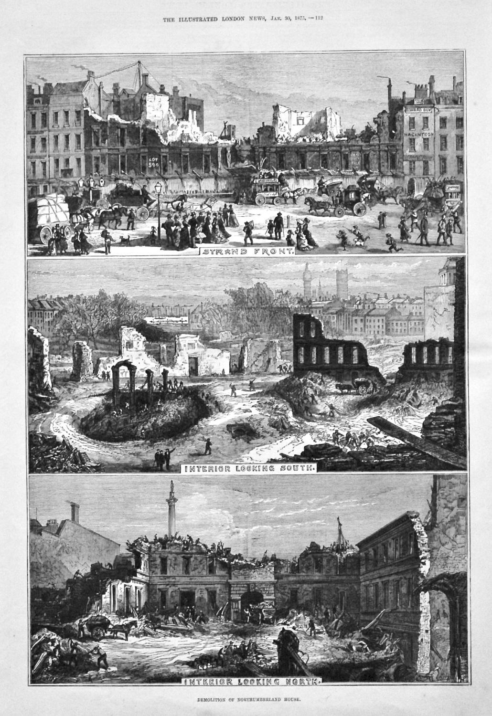Demolition of Northumberland House. 1875.
