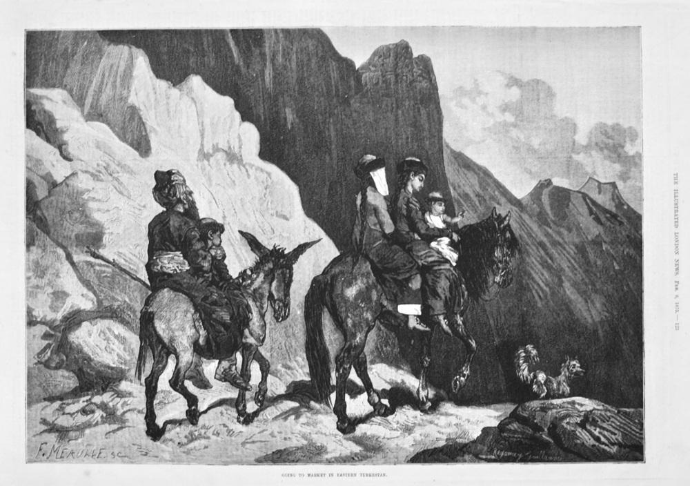 Going to the Market in Eastern Turkestan. 1875.