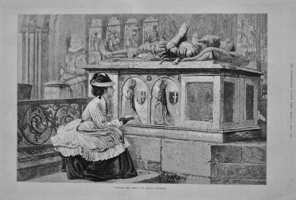 """Amongst The Tombs.""- By Claude Calthrop. 1875."