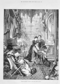 American Sketches : Sunday on the Union Pacific Railway. 1875.