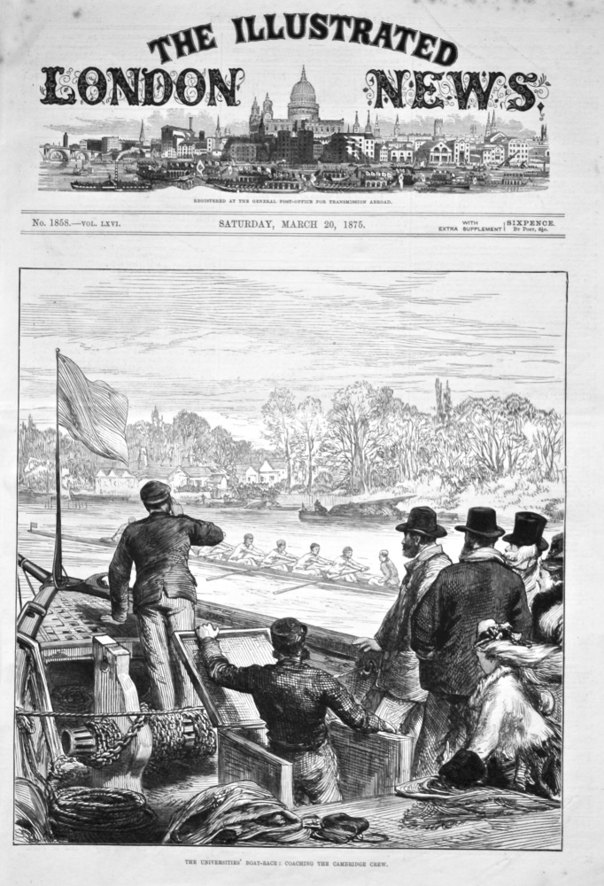 The Universities' Boat-Race : Coaching the Cambridge Crew. 1875.