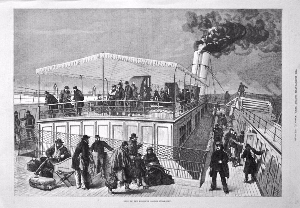 Deck of the Bessemer Saloon Steam-Ship. 1875.