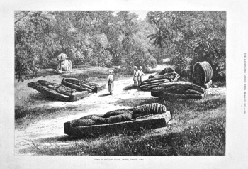 Tombs of the Gond Rajahs, Chanda, Central India. 1875.