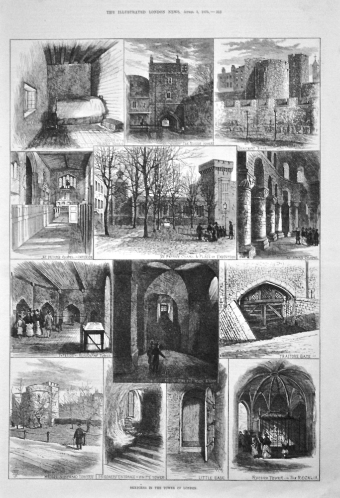 Sketches in the Tower of London. 1875.