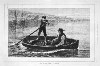 """Taking the Skipper on Board."" 1875."