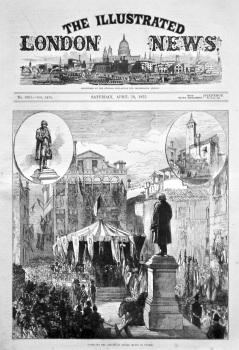 Unveiling the Statue of Daniel Manin at Venice. 1875.