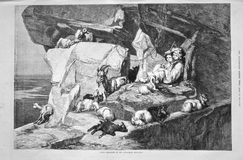 Young Shepherds of the Carpathian Mountains. 1875.