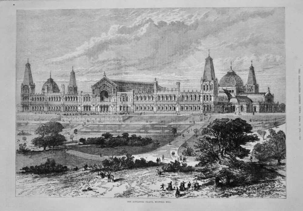 The Alexandra Palace, Muswell Hill. 1875.