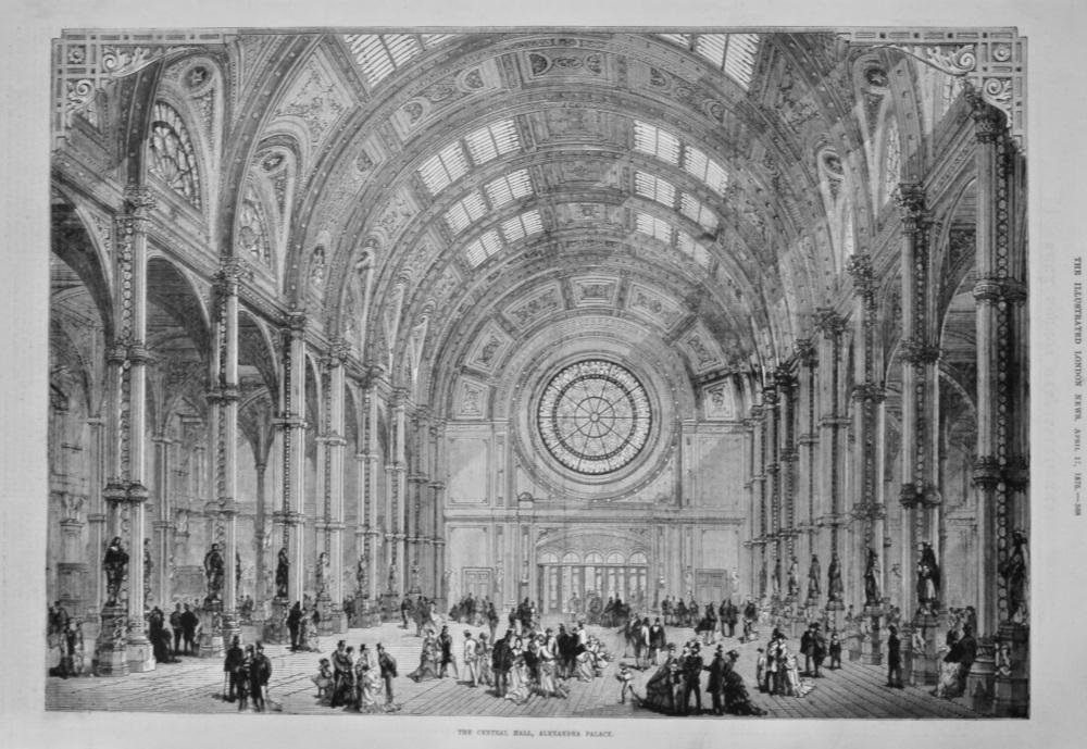The Central Hall, Alexandra Palace. 1875.