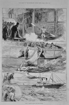 Captain Boyton's Voyage Across the Channel. 1875.