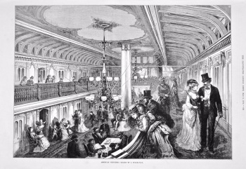 American Sketches : Saloon of a Steam-Boat. 1875.