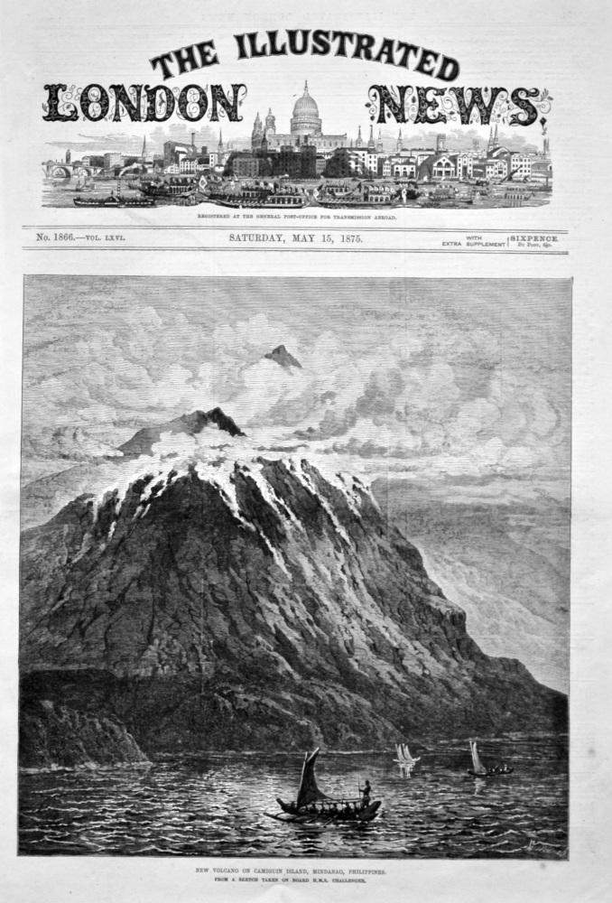 New Volcano on Camiguin Island, Mindanao, Philippines. 1875.