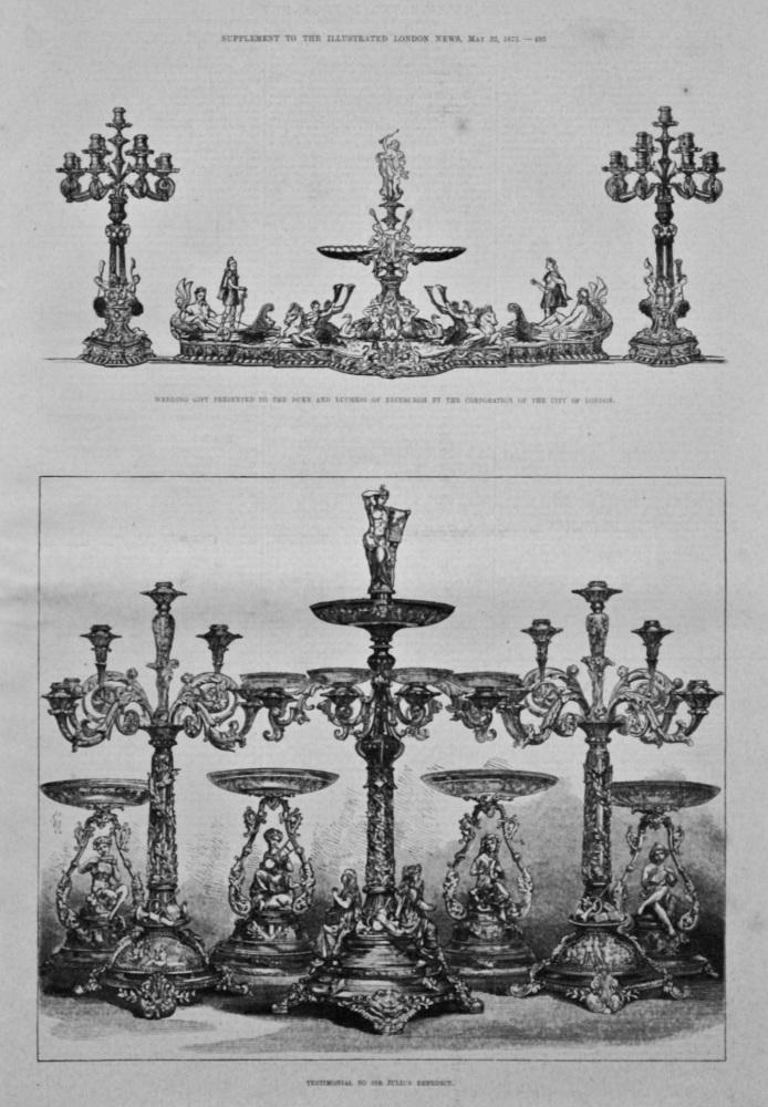 Testimonial to Sir Julius Benedict. 1875.
