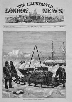 Arctic Life : Preparing to Start a Sledge Journey. 1875.