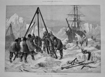 Arctic Life : Cutting a Way Out of the Ice from Winter Quarters. 1875.