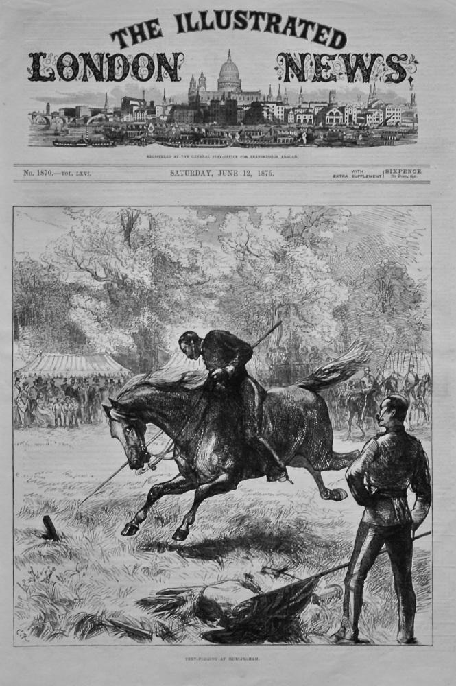 Tent-Pegging at Hurlingham. 1875.