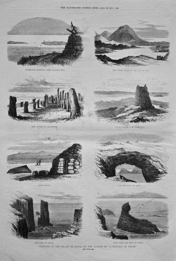 """Sketches in the Island of Lewis, by the Author of """"A Princess of Thule."""" 1875."""