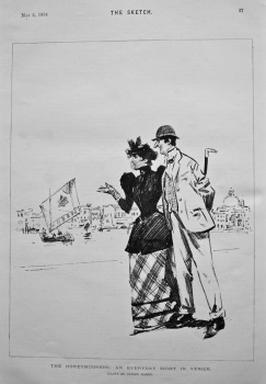 The Honeymooners : An Everyday Sight in Venice. 1894.