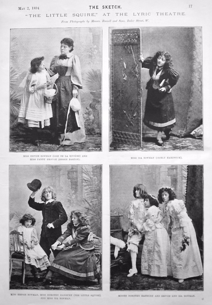 """The Little Squire,"" at the Lyric Theatre. 1894."