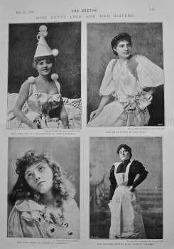 Miss Letty Lind and Her Sisters. 1894.