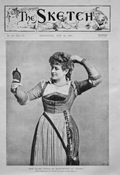 "Miss Ellen Terry as Marguerite in ""Faust."" 1894."