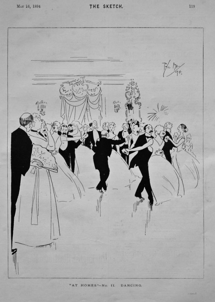 """""""At Homes."""" - No. II. Dancing. 1895."""