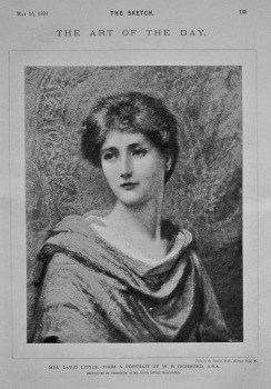 The Art of the Day : Mrs. David Little.- From a Portrait by W. B. Richmond, A.R.A. 1895.