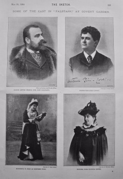 "Some of the Cast in ""Falstaff,"" at Covent Garden. 1894."