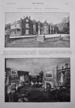 Elmhurst Hall, Lichfield. 1894.