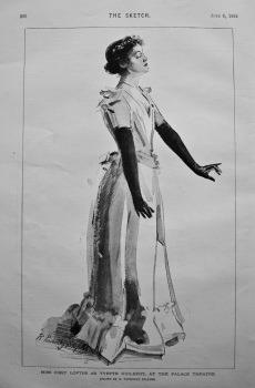 Miss Cissy Loftus as Yvette Guilbert, at the Palace Theatre. 1894.