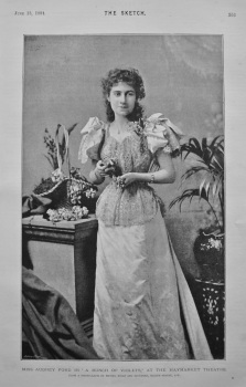 "Miss Audrey Ford in ""A Bunch of Violets,"" at the Haymarket Theatre. 1894."