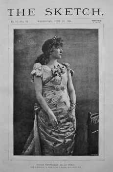 Sarah Bernhardt as La Tosca. 1894.