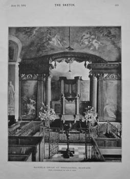Handel's Organ at Whitchurch, Edgware. 1894.