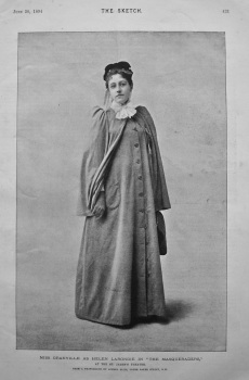 "Miss Granville as Helen Larondie in ""The Masqueraders,"" at the St. James's Theatre. 1894."