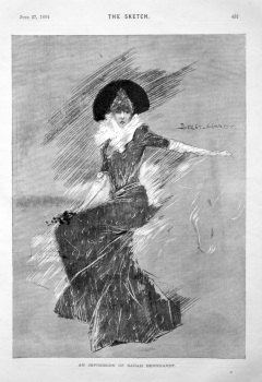 An Impression of Sarah Bernhardt. 1894.