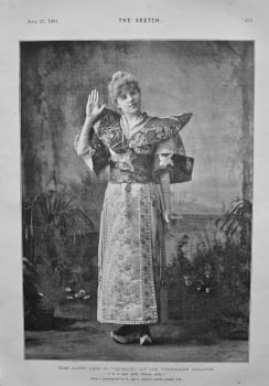"""Miss Letty Lind in """"Go-Bang,"""" at the Trafalgar Theatre. 1894."""